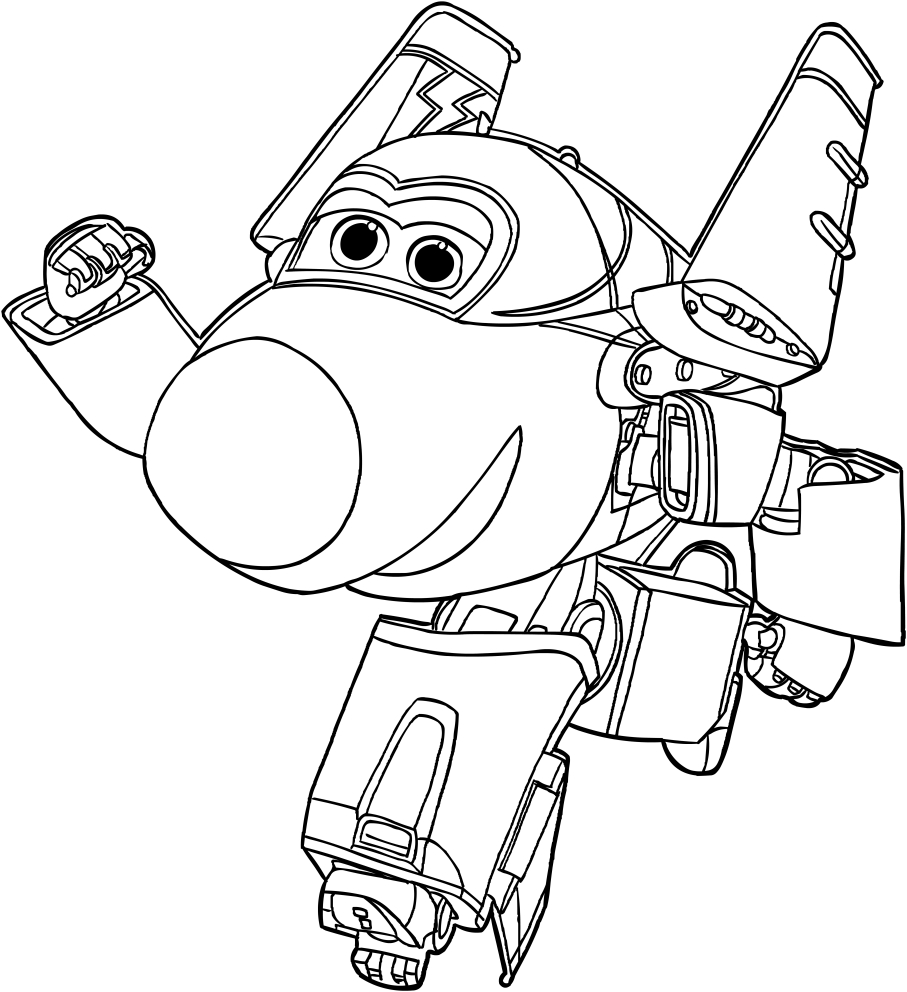 Jerome - Super Wings Coloring Pages