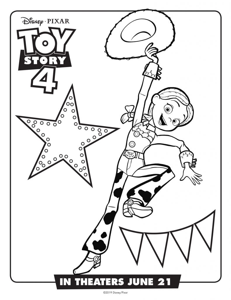 Jessie - Toy Story 4 Movie Coloring Pages