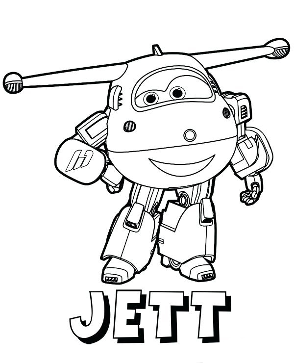 Jett - Super Wings Coloring Pages