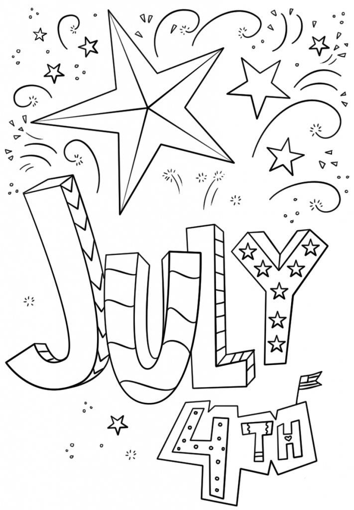 July 4th Coloring Pages