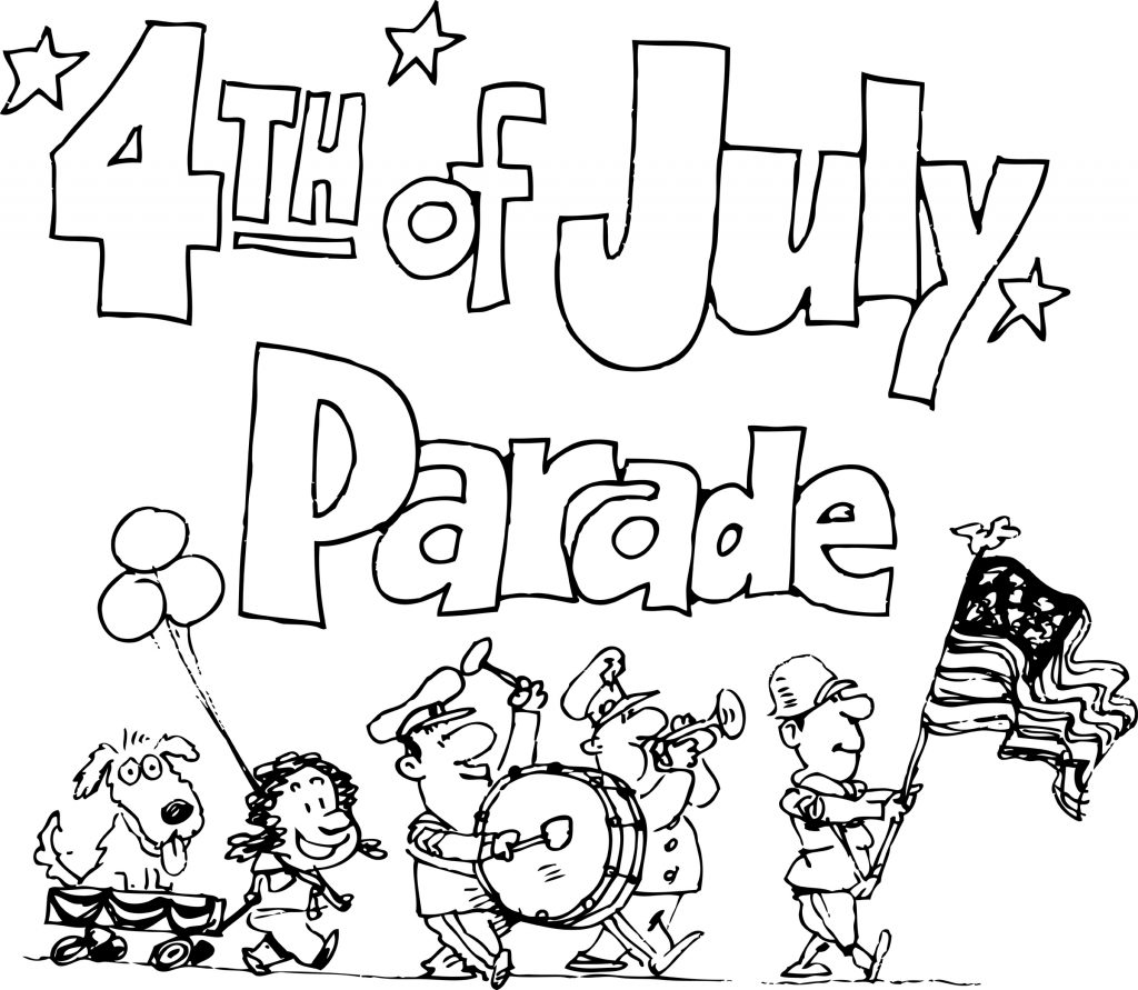 July 4th Parade Coloring Pages