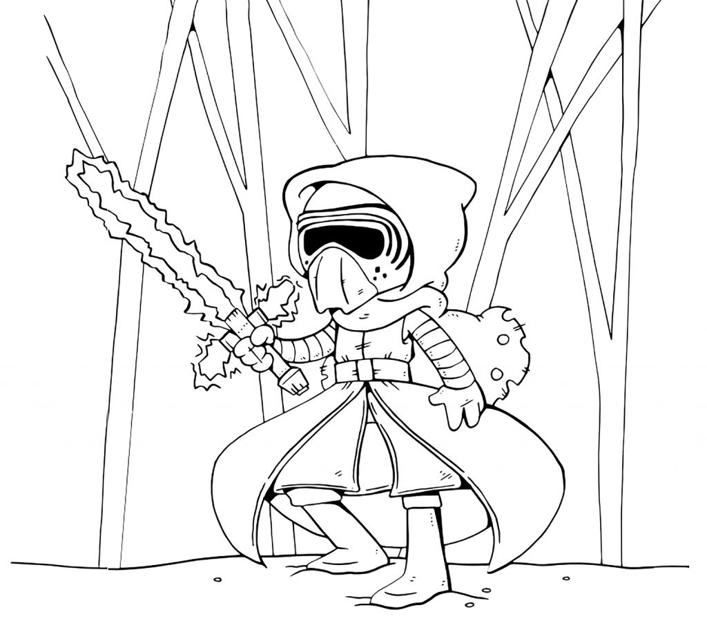 Kylo Ren Cartoon Coloring Page