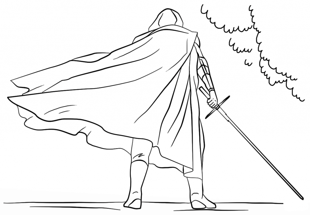 Printable Kylo Ren Coloring Pages