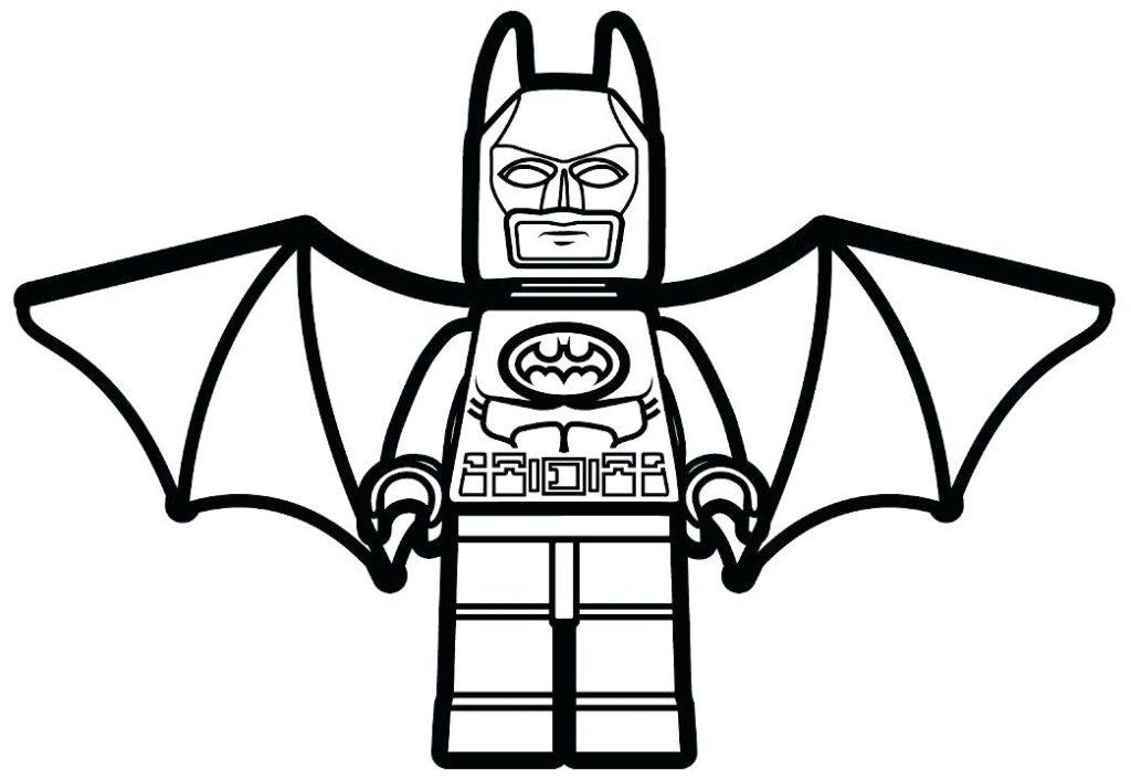 Lego Batman Superhero Coloring Page