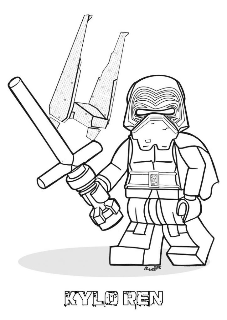 Lego Kylo Ren Coloring Pages