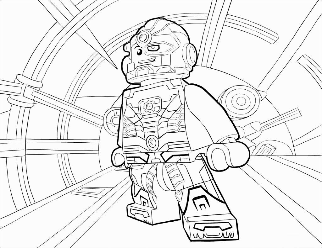 Lego Superhero Printable Coloring Page