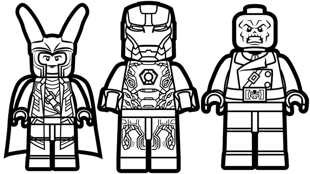 Lego Superheroes Coloring Page
