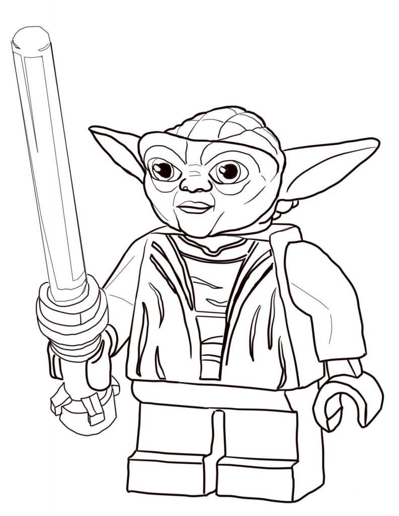 Lego Yoda Coloring Page