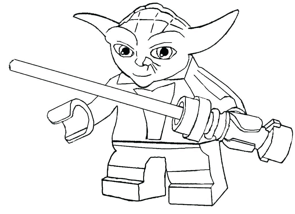 Lego Yoda Coloring Pages