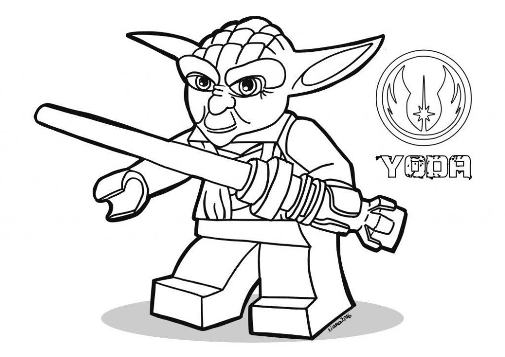 Lego Yoda Coloring Printable Page
