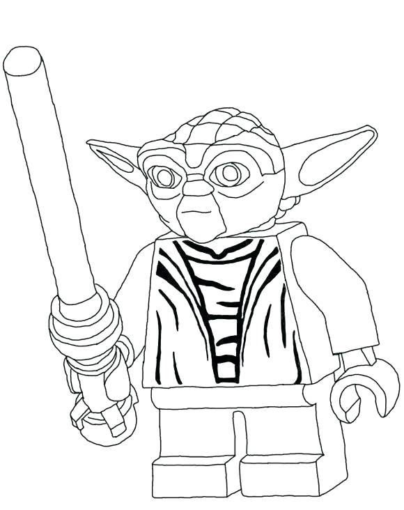 Lego Yoda Coloring