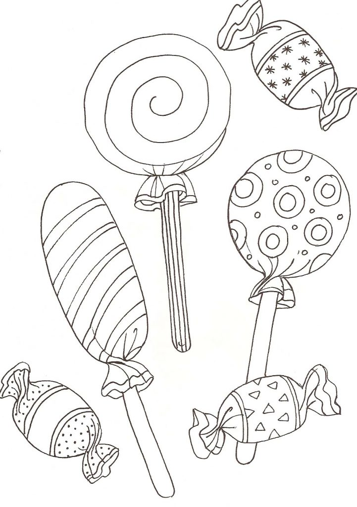 Lollipop Candy Coloring Pages