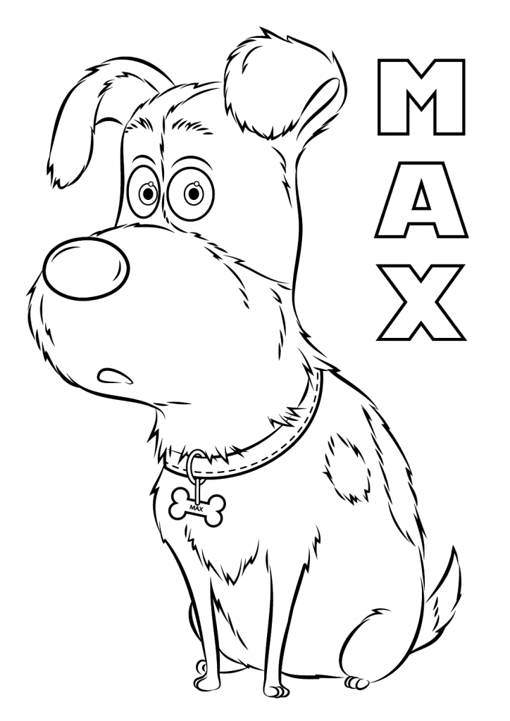 Max The Secret Life of Pets Coloring Pages