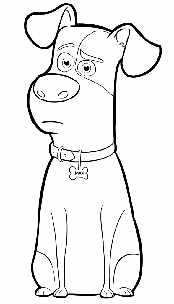 Max - The Secret Life of Pets Coloring Pages