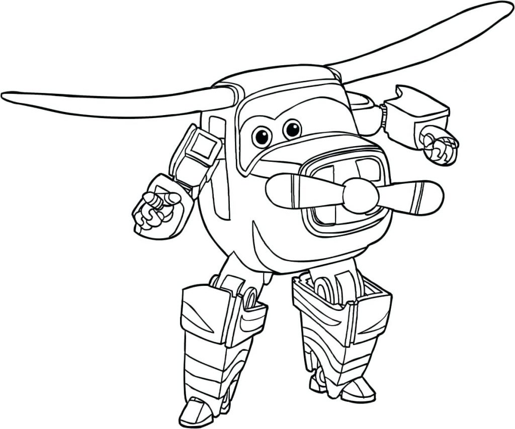 Mira - Super Wings Coloring Pages