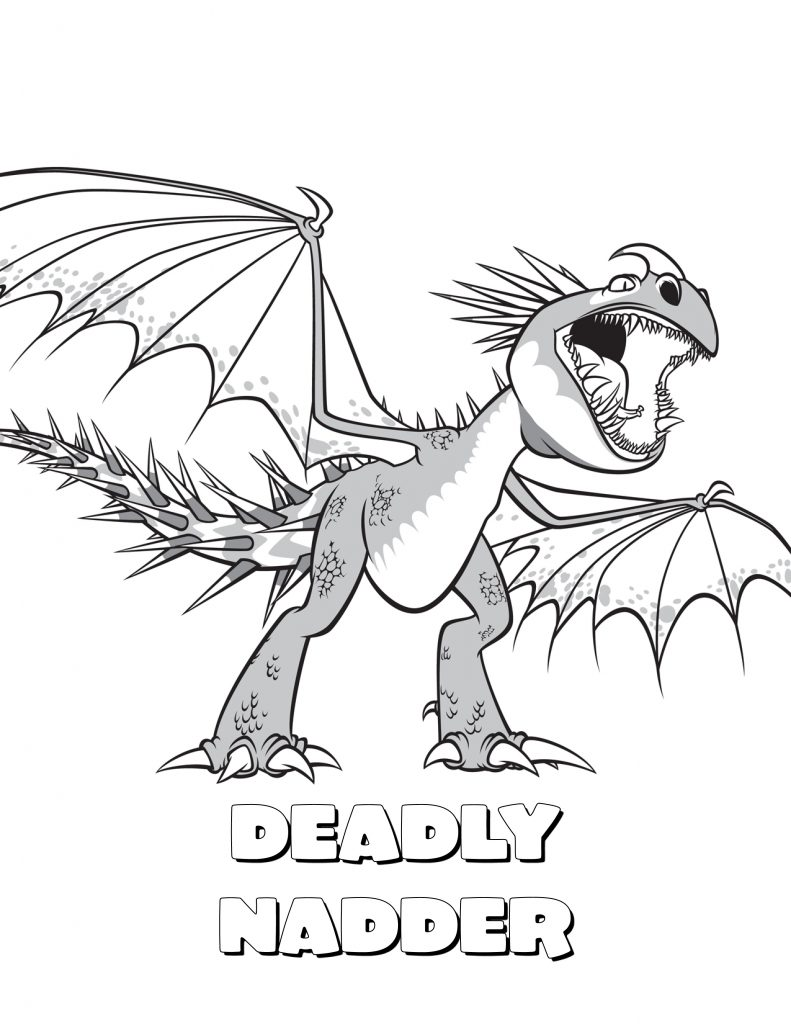 Nadder - How to Train Your Dragon Coloring Pages