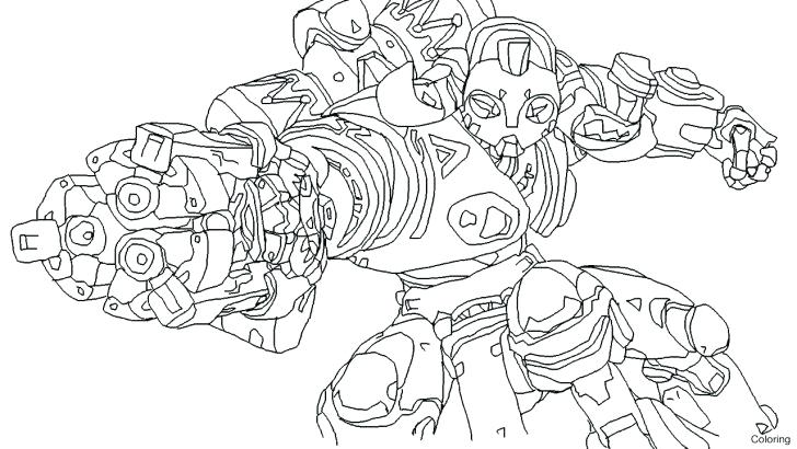 Orisa - Overwatch Coloring Pages