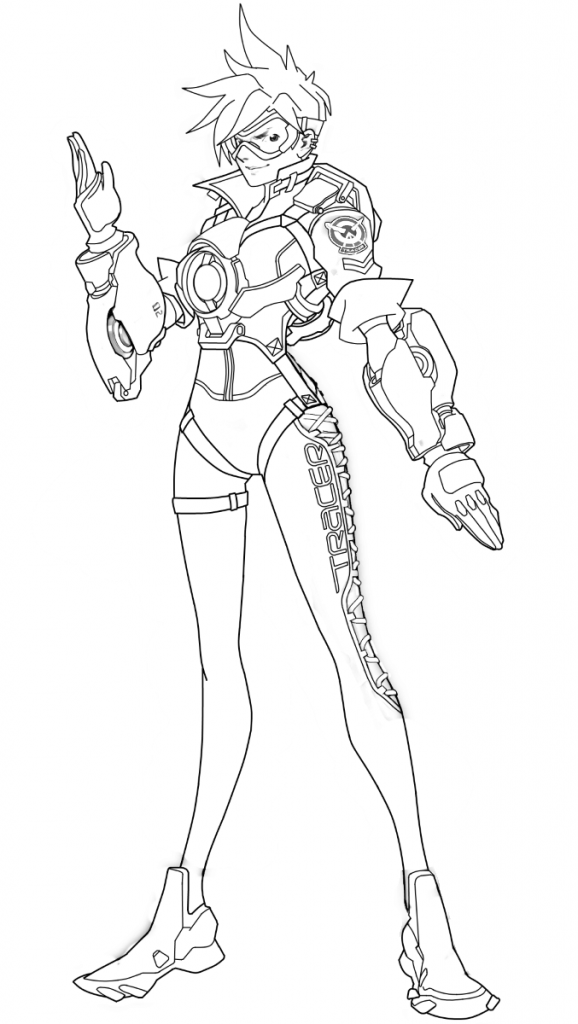Overwatch Coloring Page Tracer