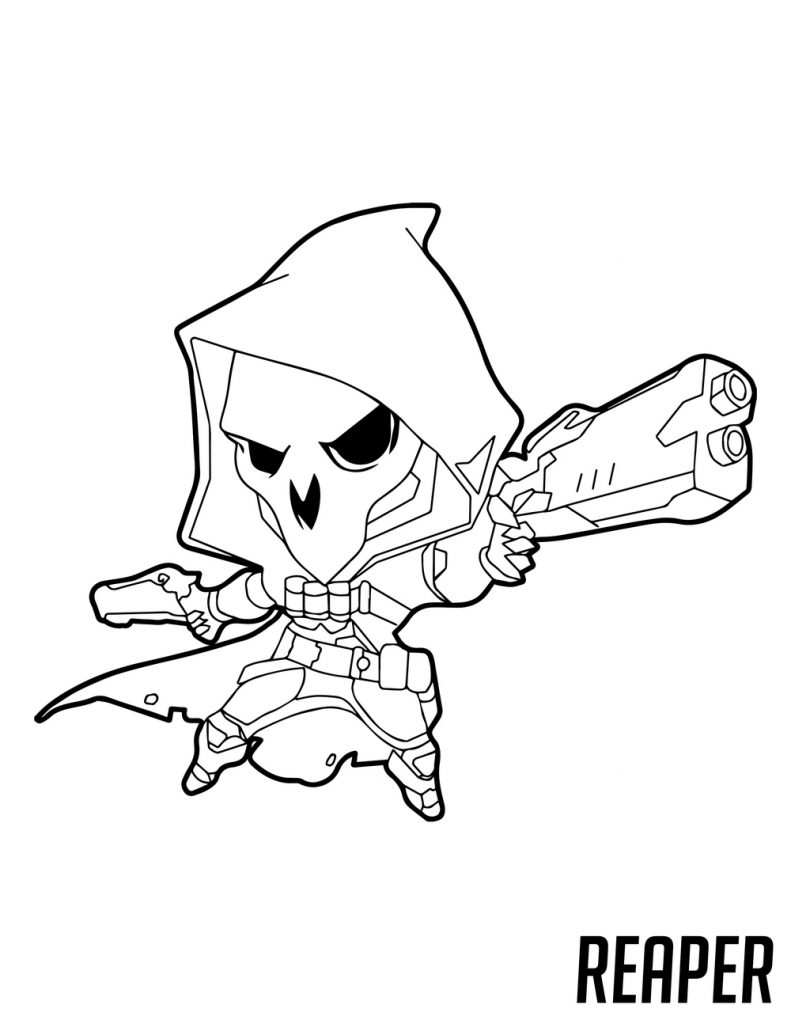 Overwatch Coloring - Reaper Cute Spray