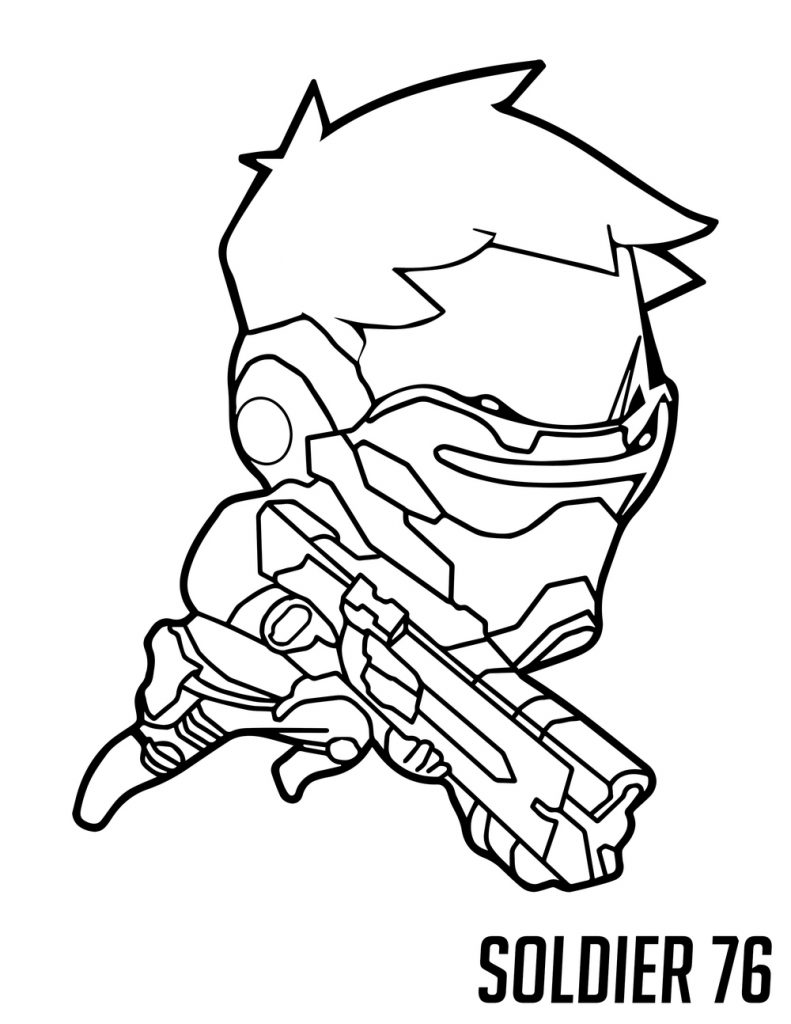 Overwatch Coloring - Soldier 76 Cute Spray