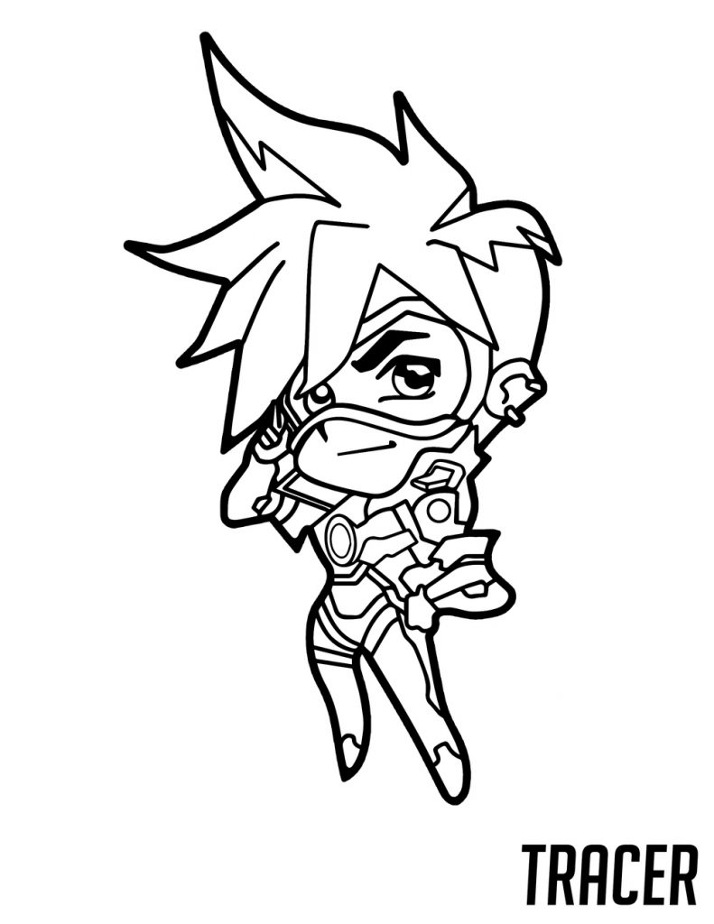 Overwatch Coloring - Tracer Cute Spray