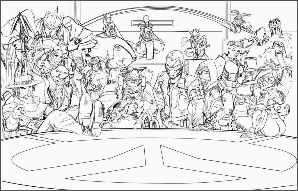 Overwatch Crew Coloring Page