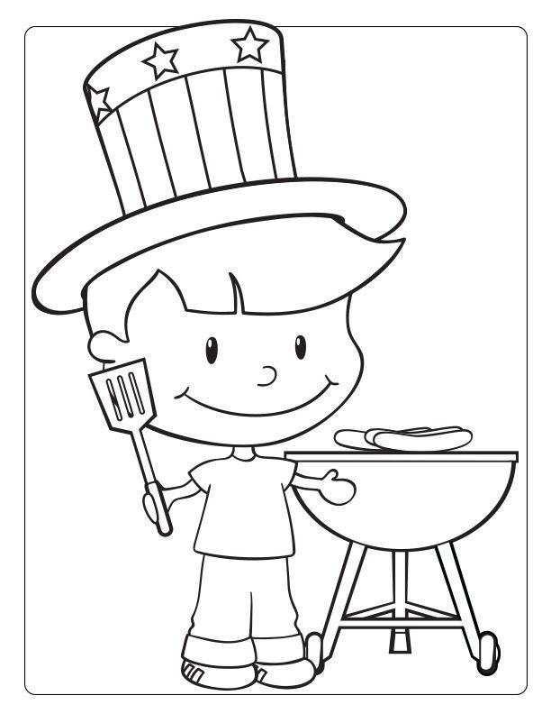 Patriotic July Coloring Pages