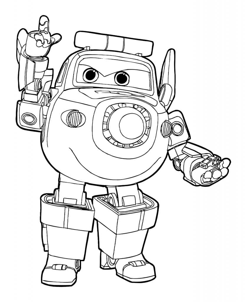 Paul - Super Wings Coloring Pages