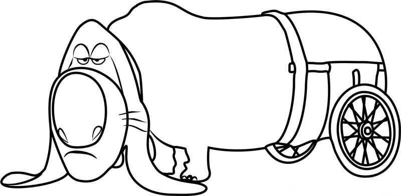 Pops The Secret Life of Pets Coloring Pages