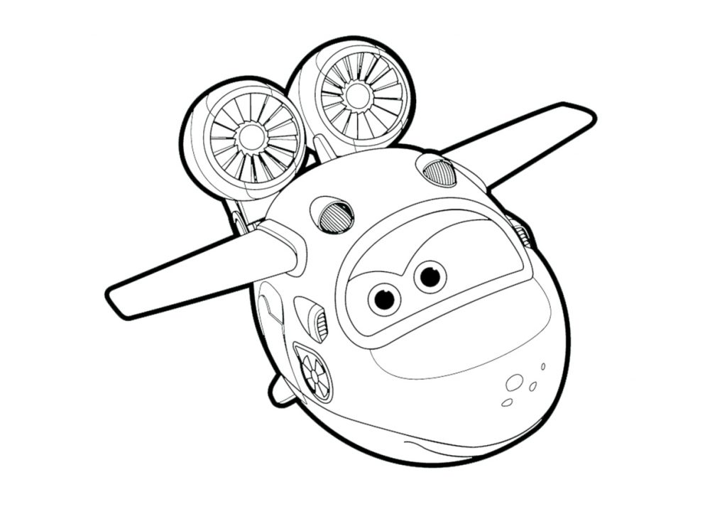 Print Super Wings Coloring Page