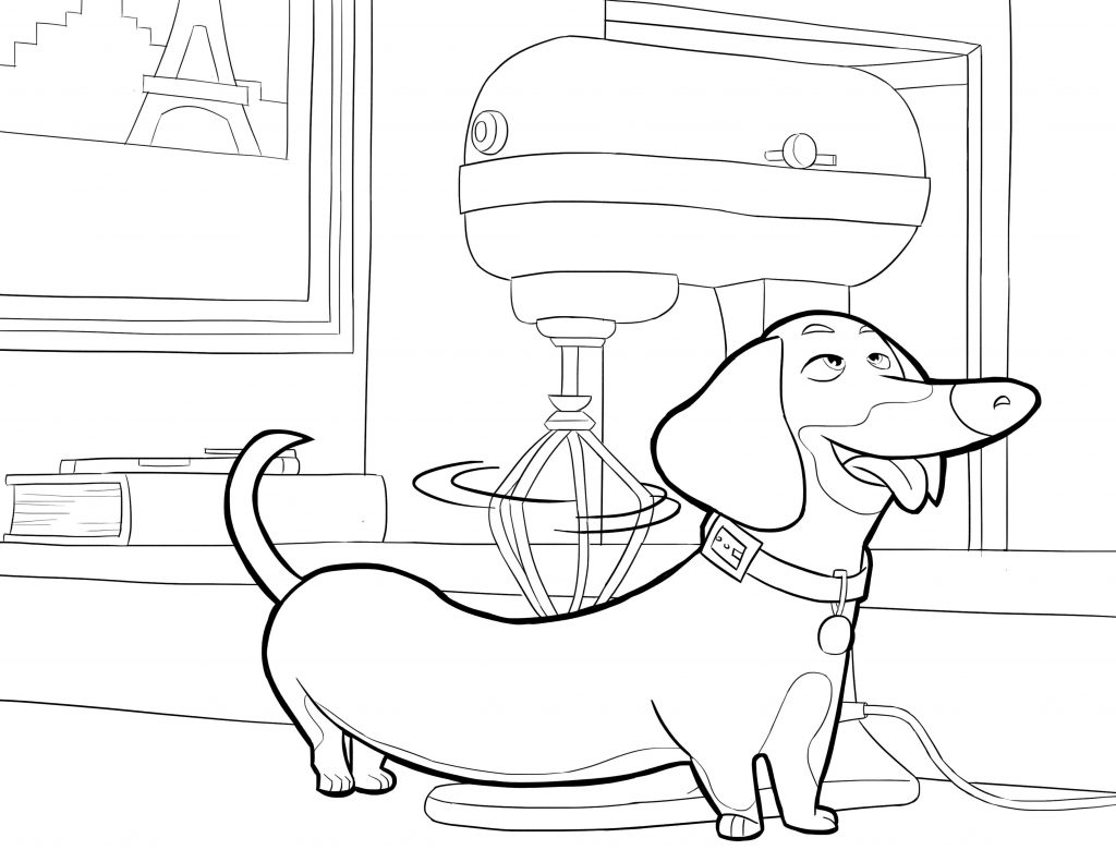Print The Secret Life of Pets Coloring Pages