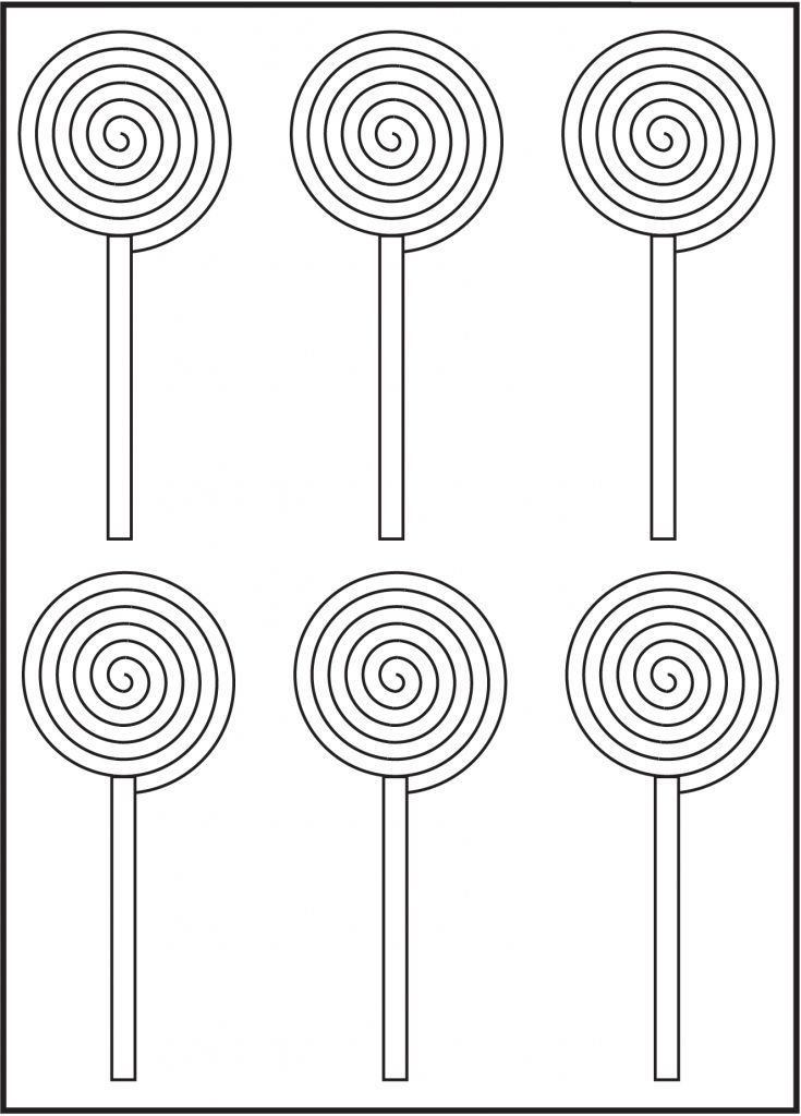 Printable Lollipops Coloring Pages