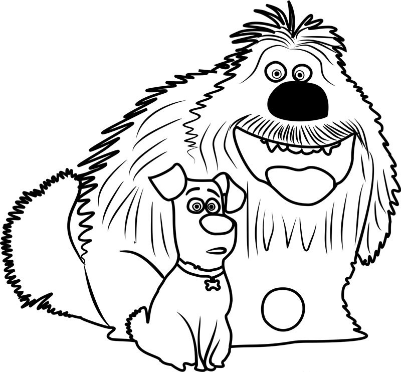Printable Secret Life of Pets Coloring Pages