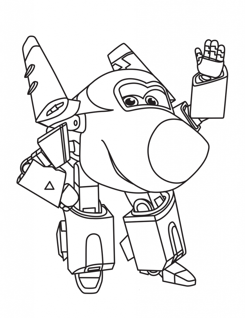 Printable Super Wings Coloring Page