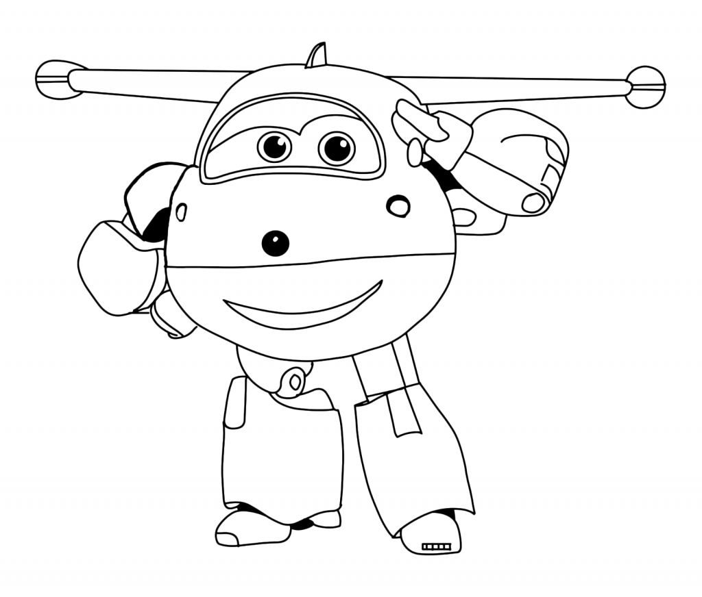 Printable Super Wings Coloring Pages