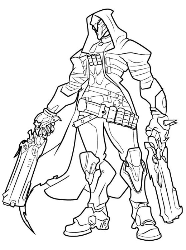 Reaper - Overwatch Coloring Pages