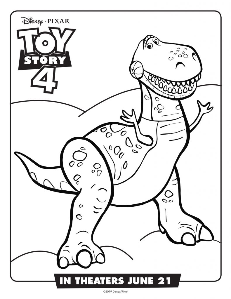 Rex - Toy Story 4 Coloring Pages
