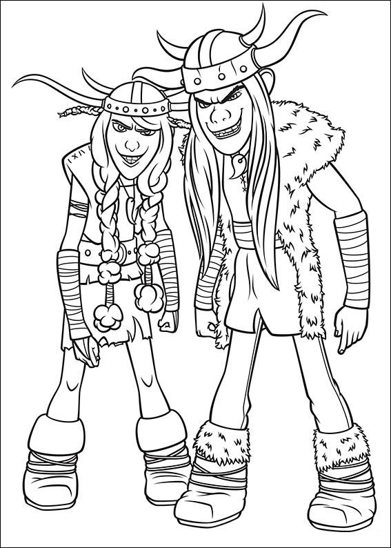 Ruffnut and Tuffnut - How to Train Your Dragon Coloring Page
