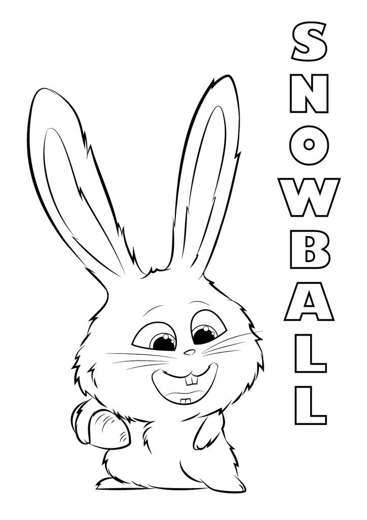 Snowball The Secret Life of Pets Coloring Pages