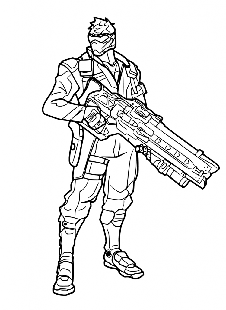 Soldier 76 - Overwatch Coloring Pages