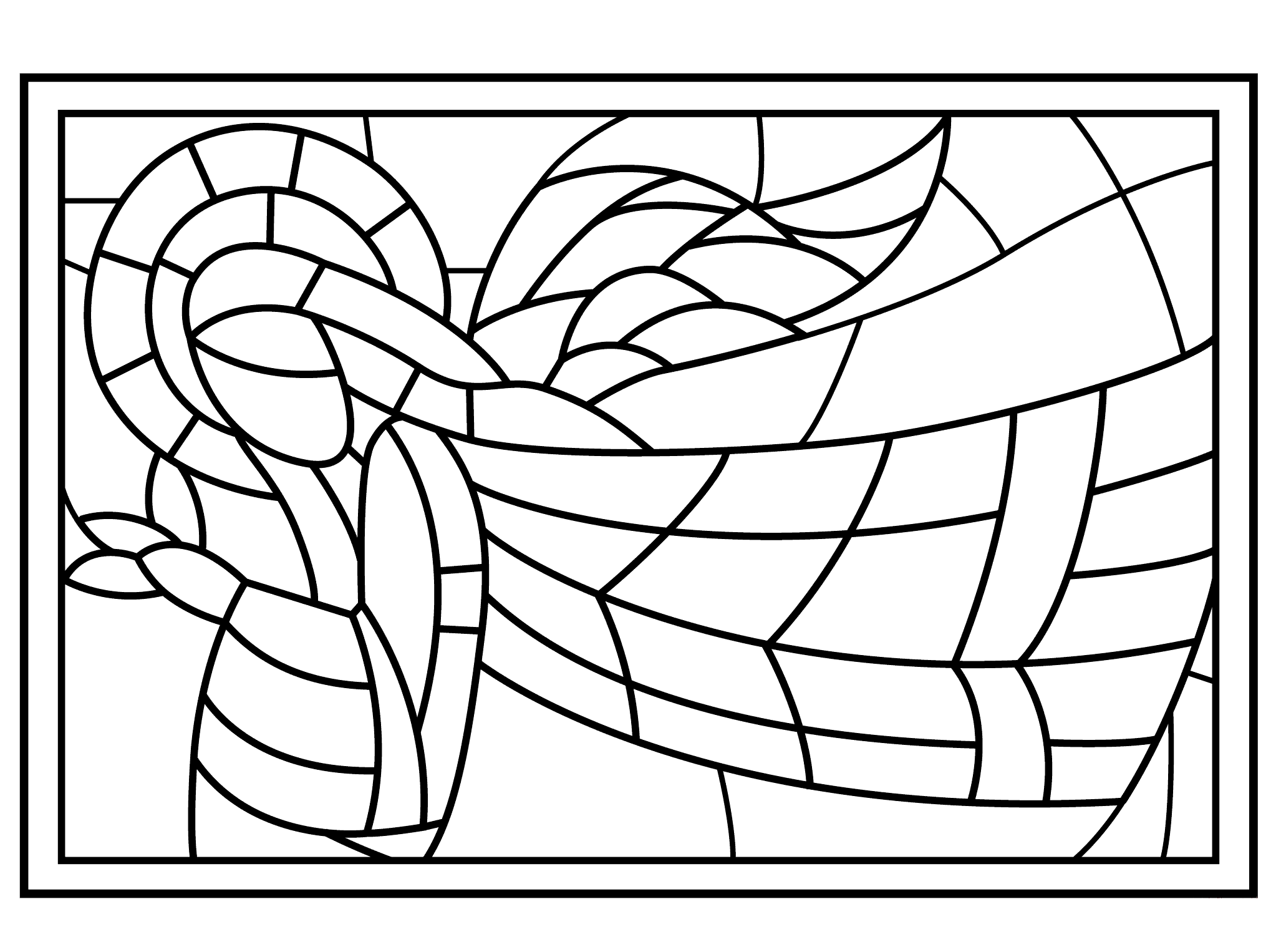 Stained Glass Coloring Pages for Adults - Best Coloring ...