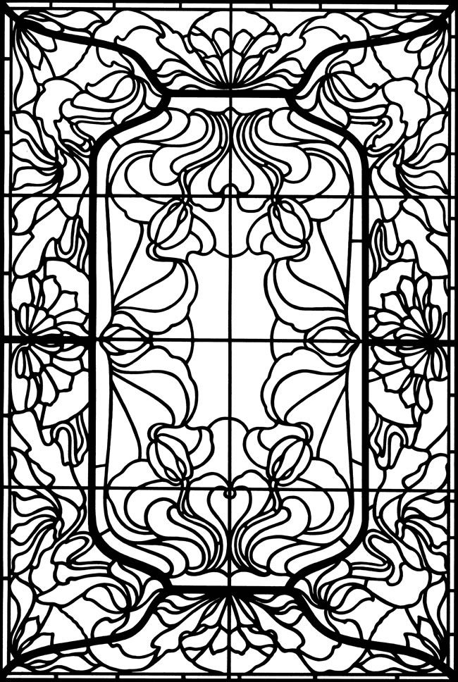 Stained Glass Images for Adult Coloring