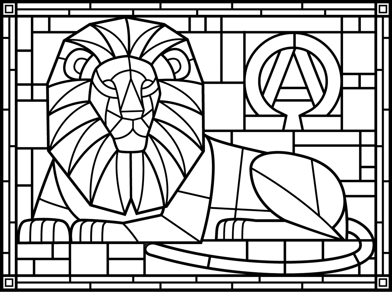 Stained Glass Coloring Pages For Adults Best Coloring Pages For Kids