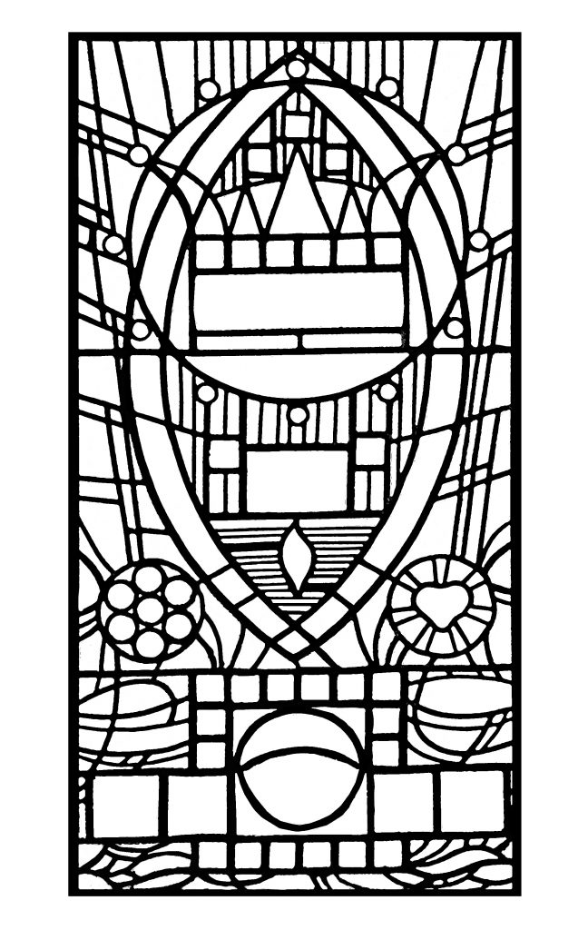 Stained Glass Pattern Coloring for Adults