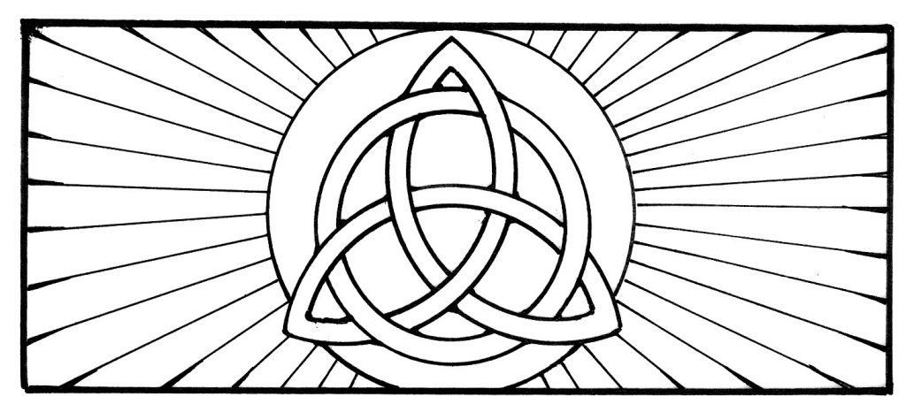 Stained Glass Pattern Symbol Coloring Page