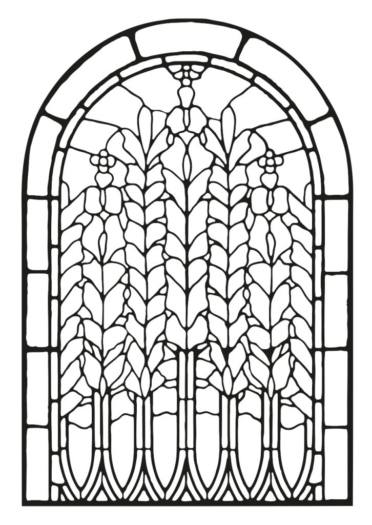 Stained Glass Window Adult Coloring