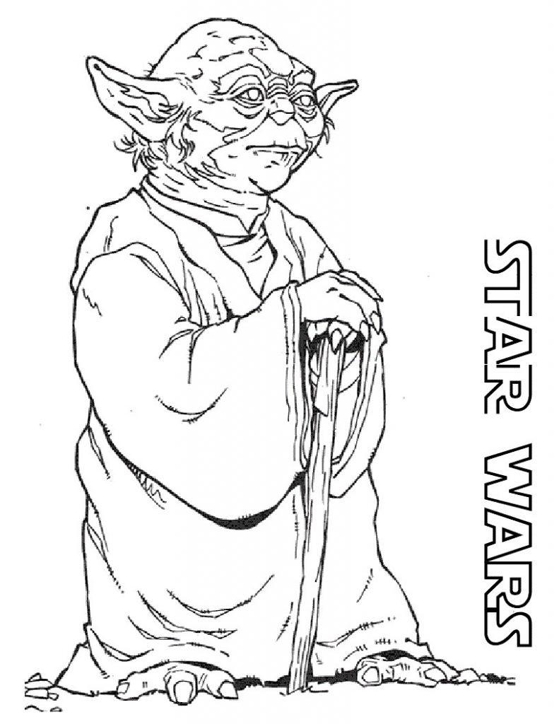 Star Wars Yoda Coloring Page