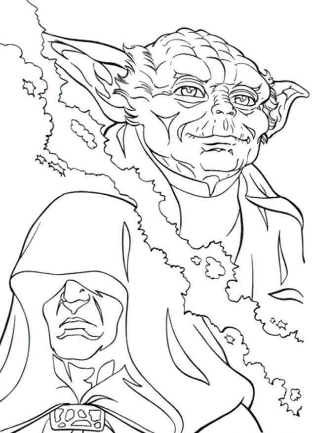 Star Wars Yoda Coloring Printable