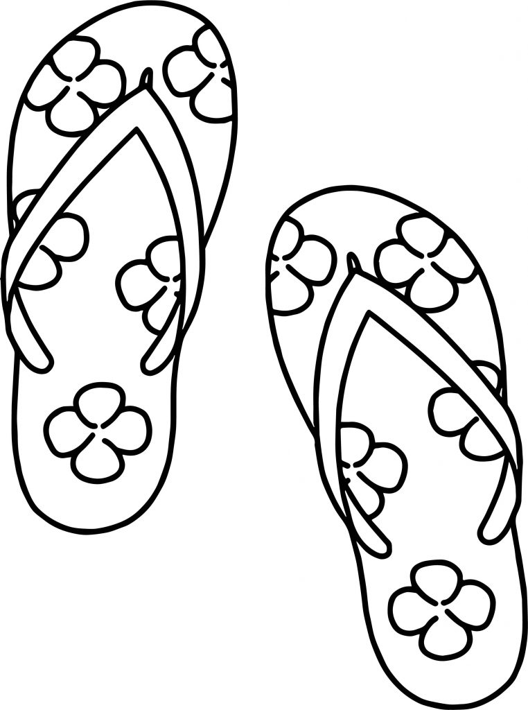 Summer Shoes in July Coloring Pages
