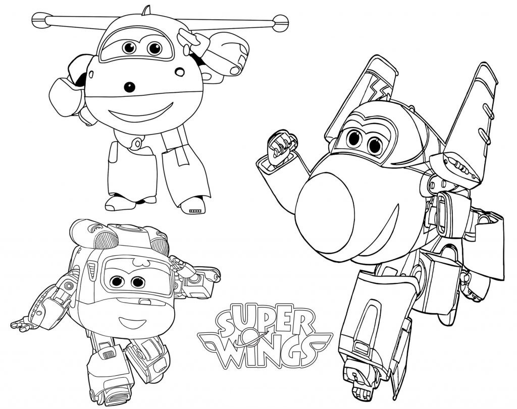 Super Wings Characters Coloring Pages